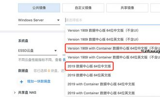 阿里云Windows镜像系统with Container和Version 1909详解